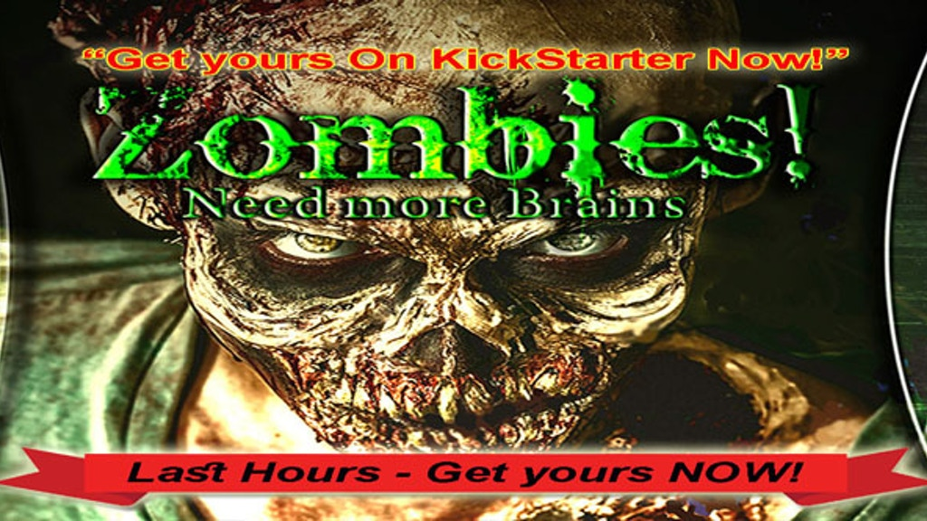 Zombies! Need more Brains - the card game. BREAK KickStarter project video thumbnail
