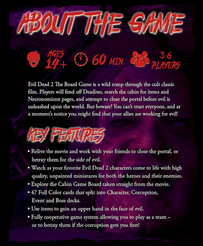 Evil Dead 2 The Board Game