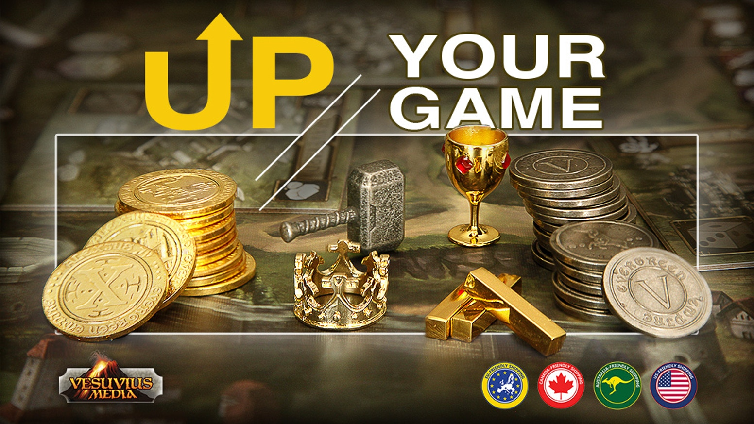Upgrade your gaming experience with cool tokens and components.