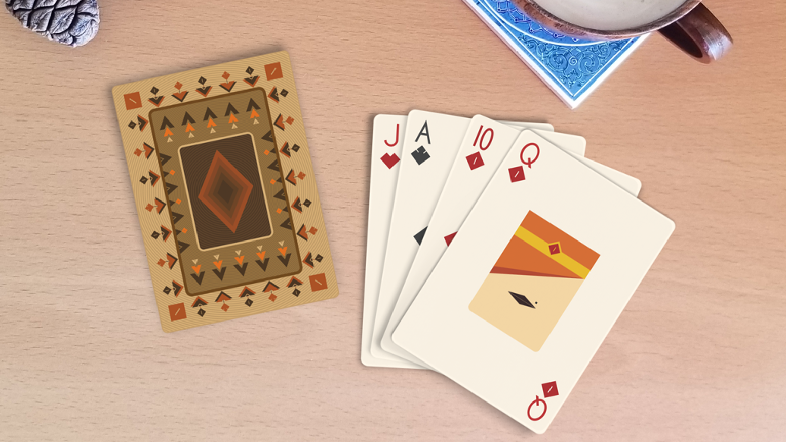 A minimalist deck of playing cards by Siavash Mortazavi & Expert Playing Card Co.