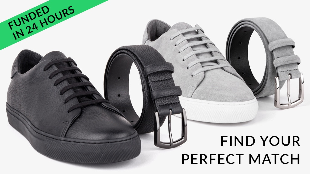 Matching Minimalist Belts and Sneakers by Dalgado
