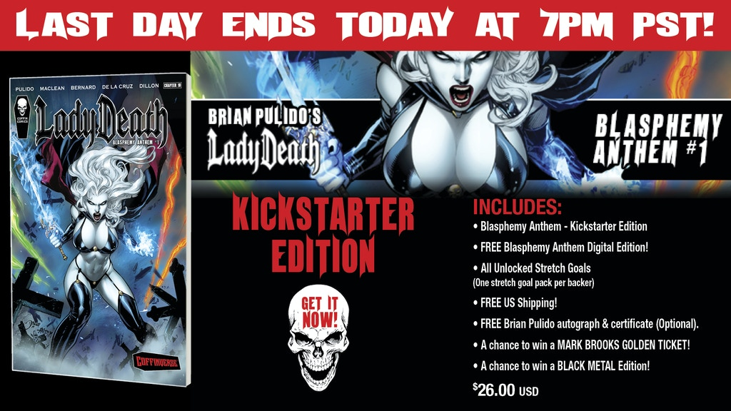 Brian Pulido's Newest: Lady Death: Blasphemy Anthem #1!!!!! project video thumbnail