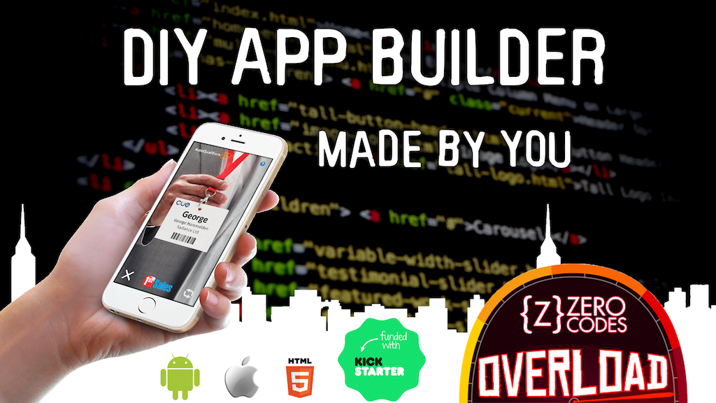 Zero Code Apps Overload - DIY app builder, apps made by you! project video thumbnail