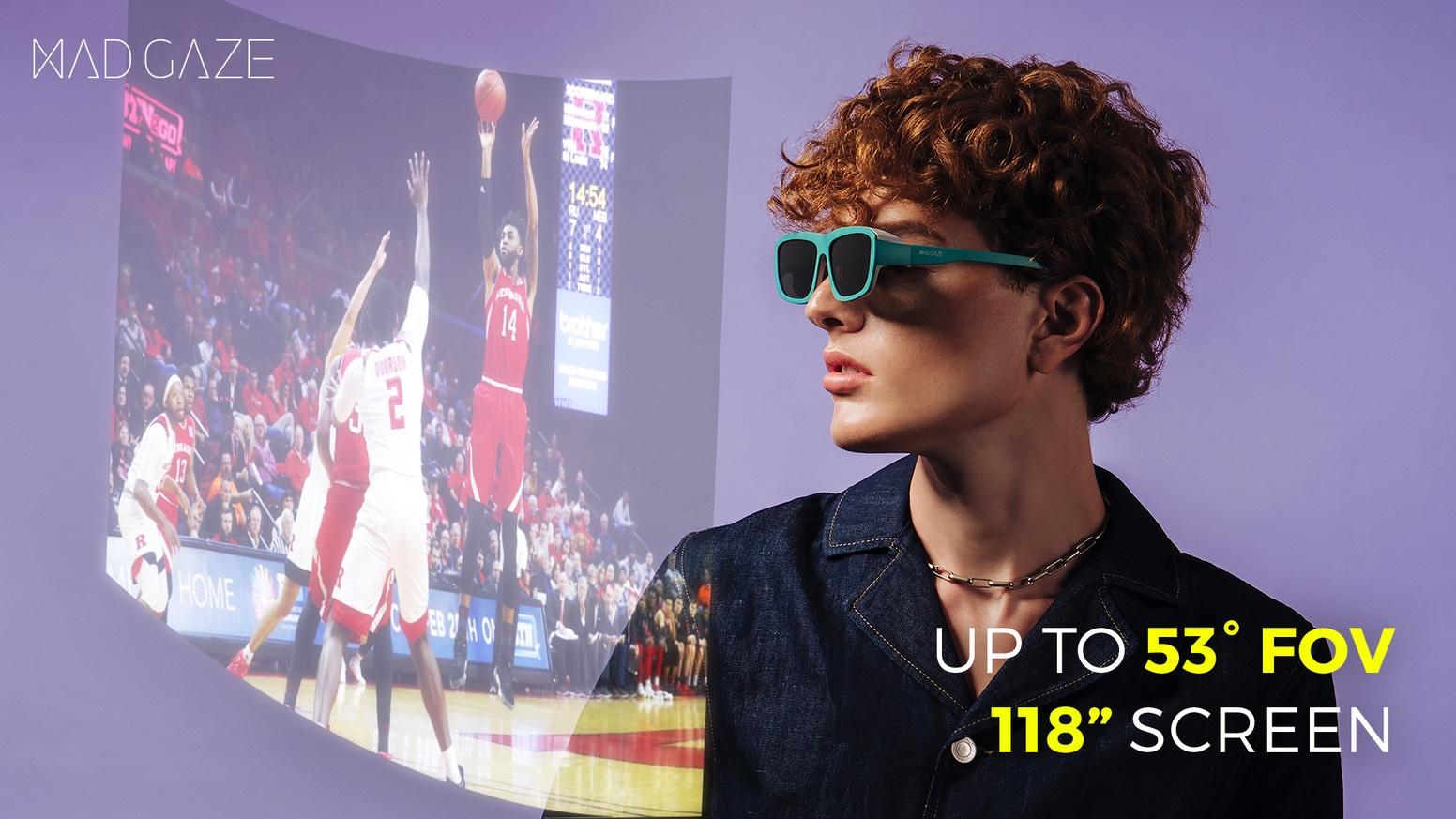 Experience AR, Hand Gesture and 3D movie in Glasses, it supports iOS and Android Phone, Tablet, Laptop, PS4, XBOX, Switch,  DJI.