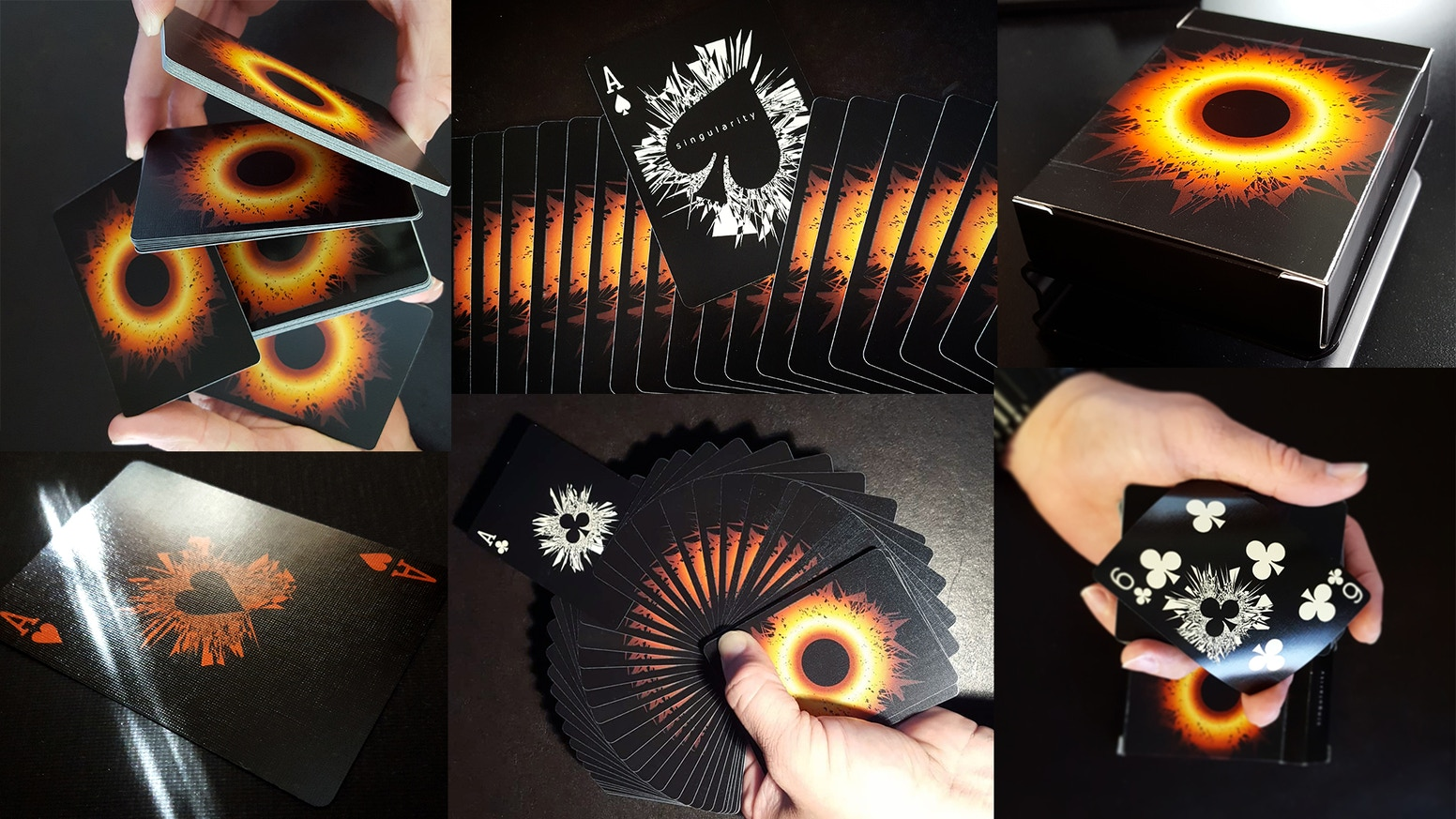 Black hole playing cards. Limited edition. Printed by USPCC. Latecomer? Join use on PledgeManager!