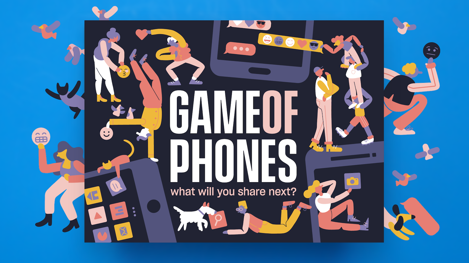 A card game where all you need is your smartphone to take on creative and unexpected challenges.
