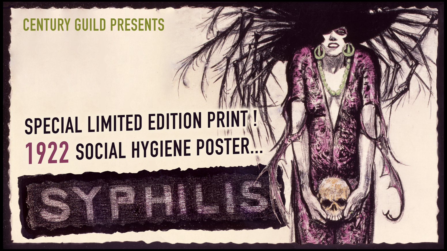 Deluxe edition of 100 fine art prints made directly from a rare original poster created in 1922.
