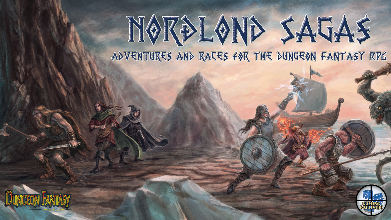 Three new works (two adventure locations, one rules book) expanding the Norðlond setting for the Dungeon Fantasy RPG, Powered by GURPS.