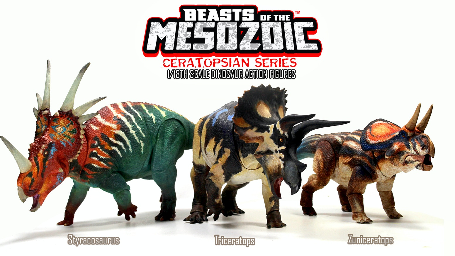 Beasts of the Mesozoic: Ceratopsians- a line of scientifically accurate dinosaur action figures with elaborate detail and articulation (Pre-order link below)