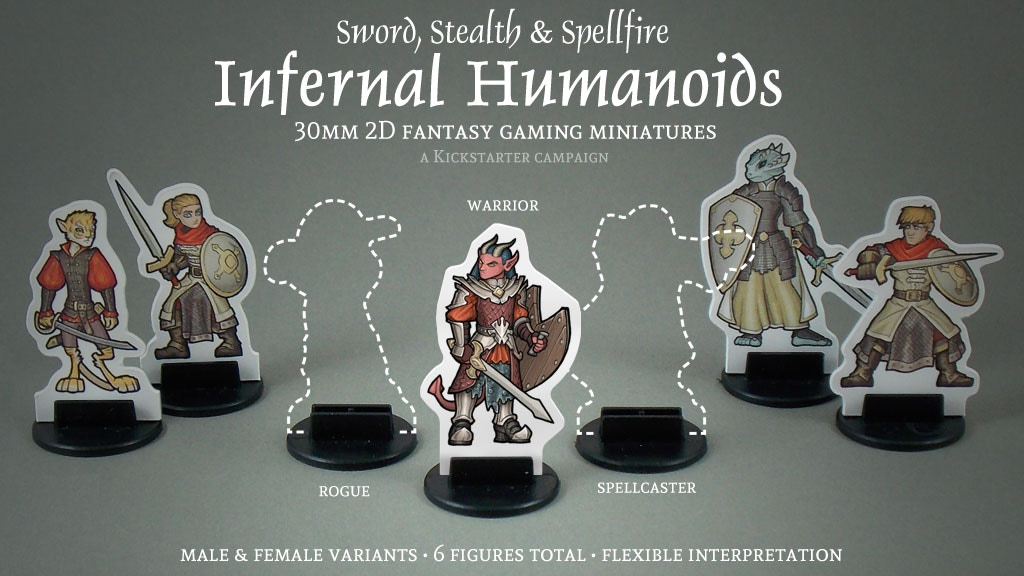 Update 1: Thank you! · Infernal Humanoids 30mm 2D Fantasy Gaming Miniatures