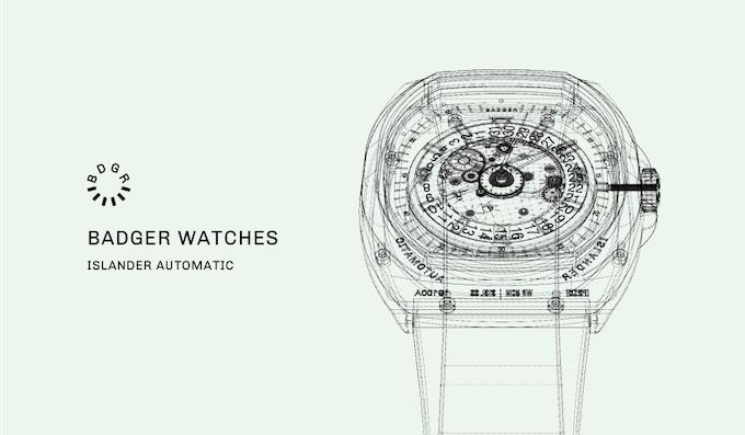 Islander Auto watch with Elaboré Swiss mechanical movement