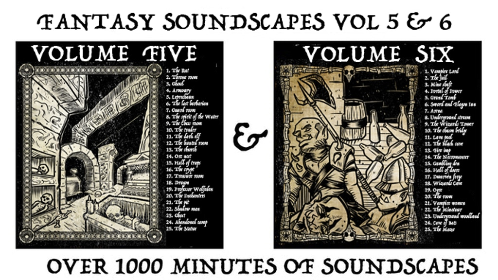 Fantasy Soundscapes Vol 5 & 6 + FREE Cthulhu Vol project video thumbnail