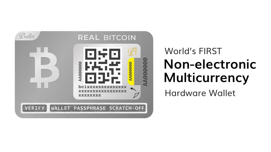 Ballet Cryptocurrency Hardware Wallet