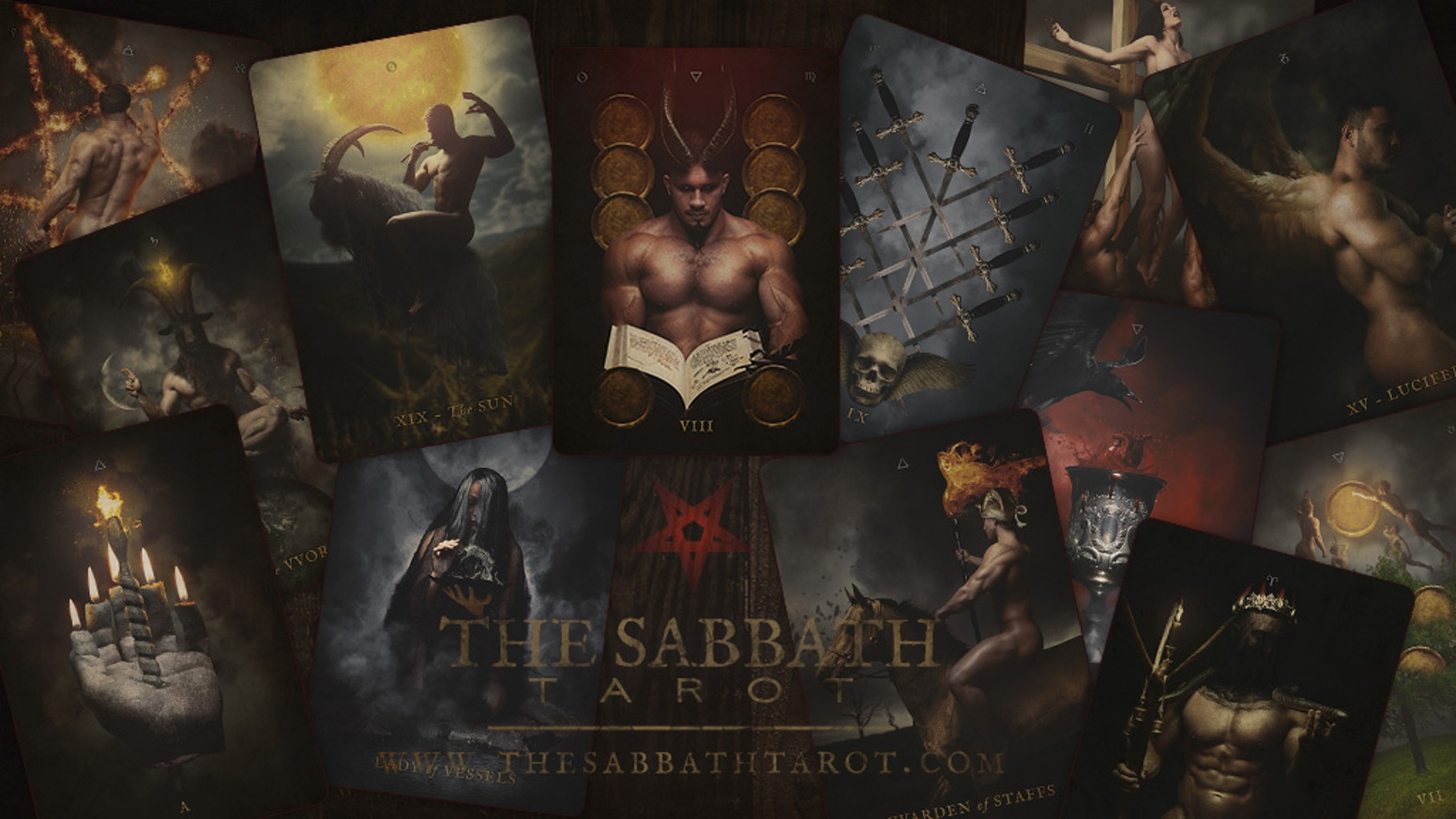 This deck captures familiar scenes from The Witch's Sabbath as well as other sights familiar to witches and their rites.