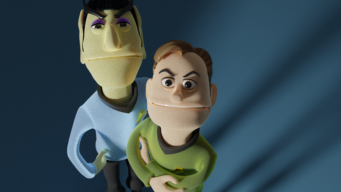 I'm creating an Animated Puppet Parody of the classic Trek episode.