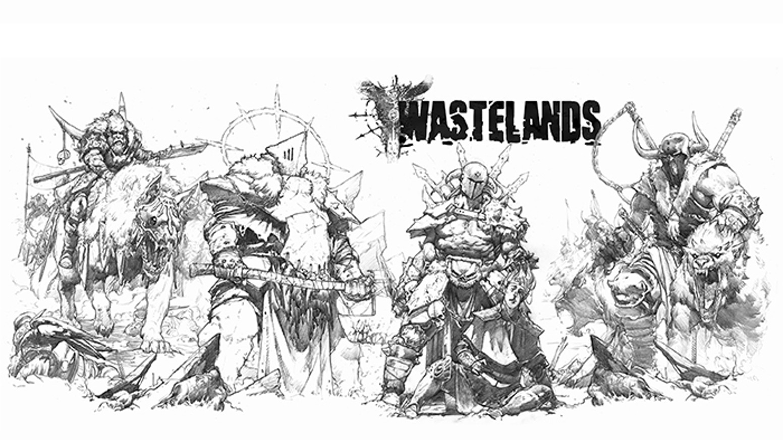 """Wastelands"" is a fantasy art book by Blocsanchez"