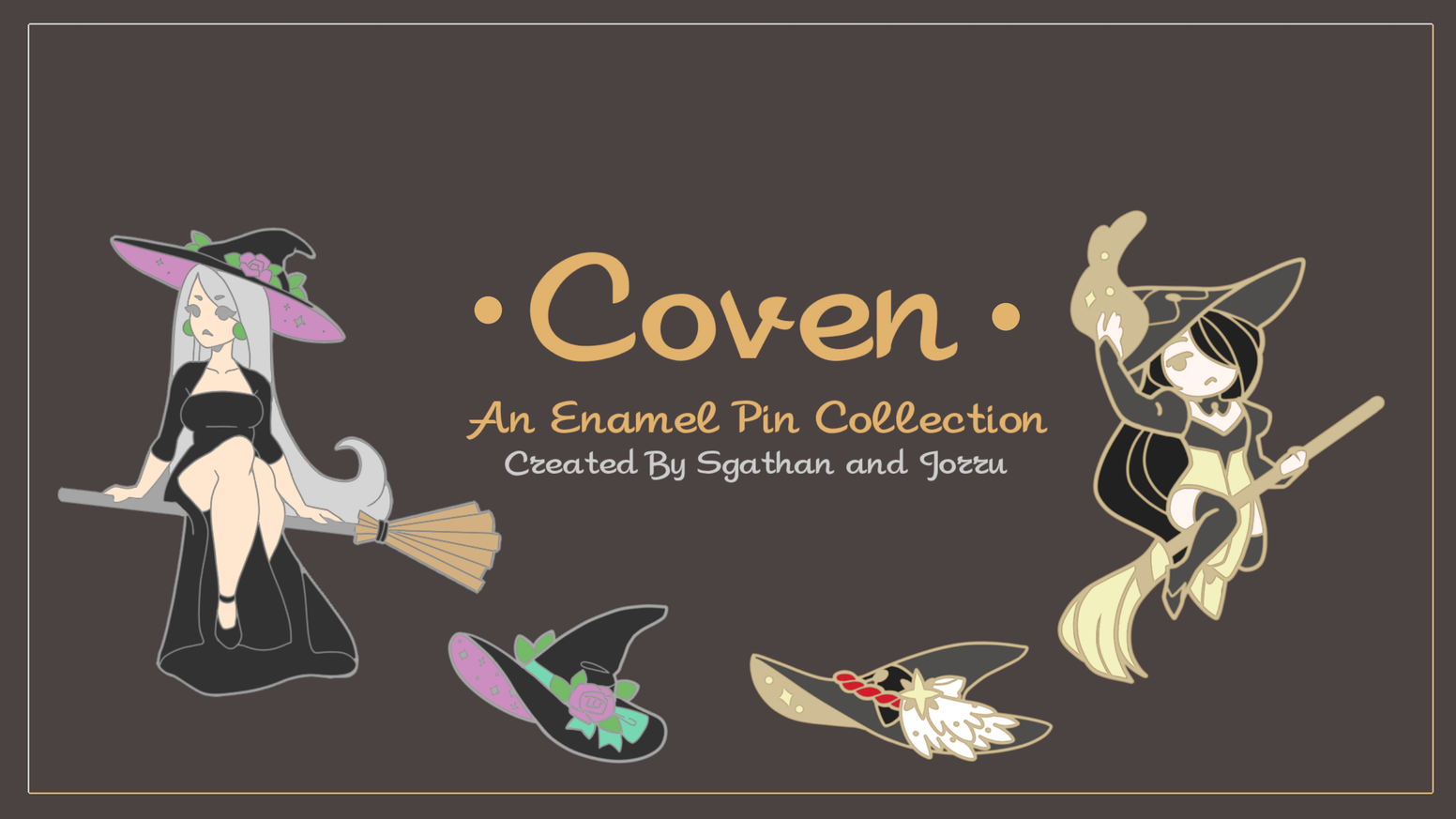 Coven A Witch Pin Collaboration By Nykki Gardner Kickstarter