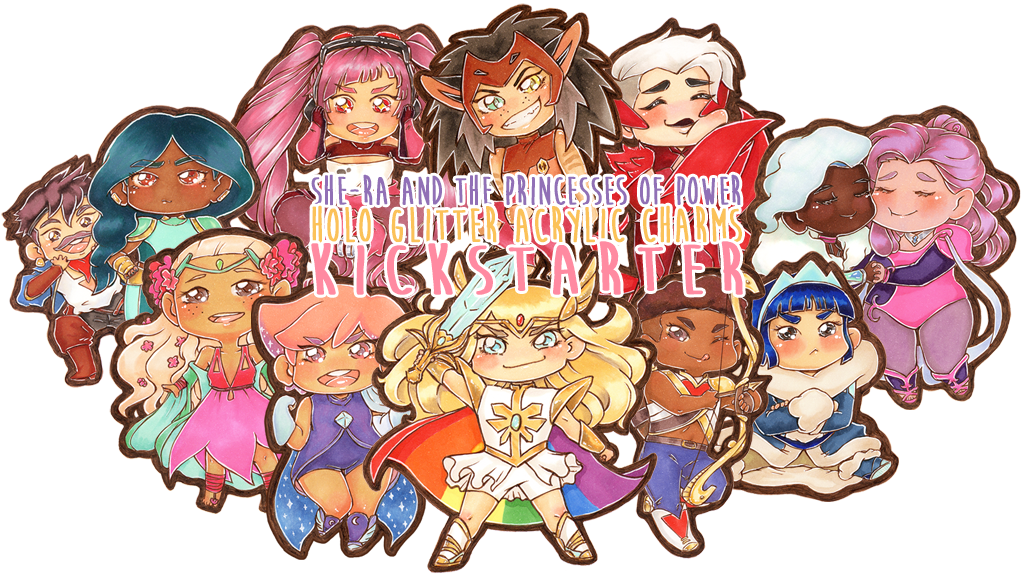 """Project image for """"She-Ra and the Princesses of Power"""" Holo Glitter Charms"""
