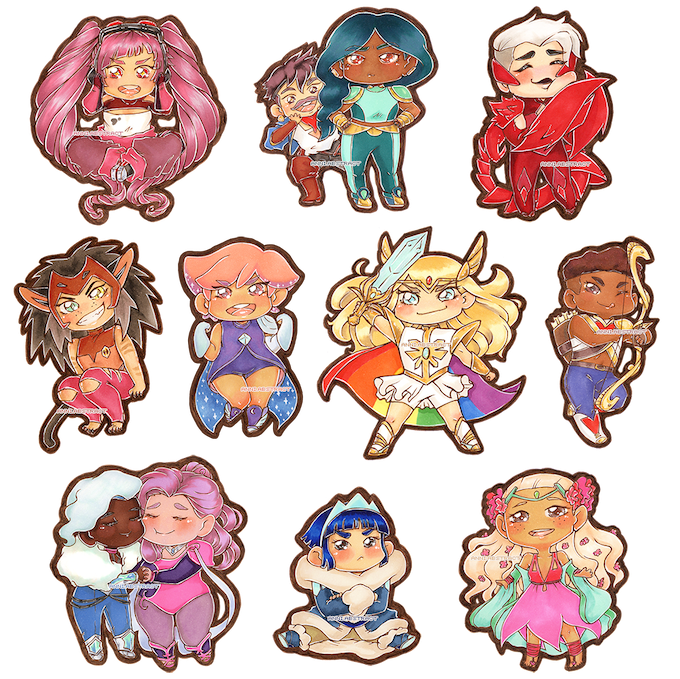 """She-Ra and the Princesses of Power"" Holo Glitter Charms"