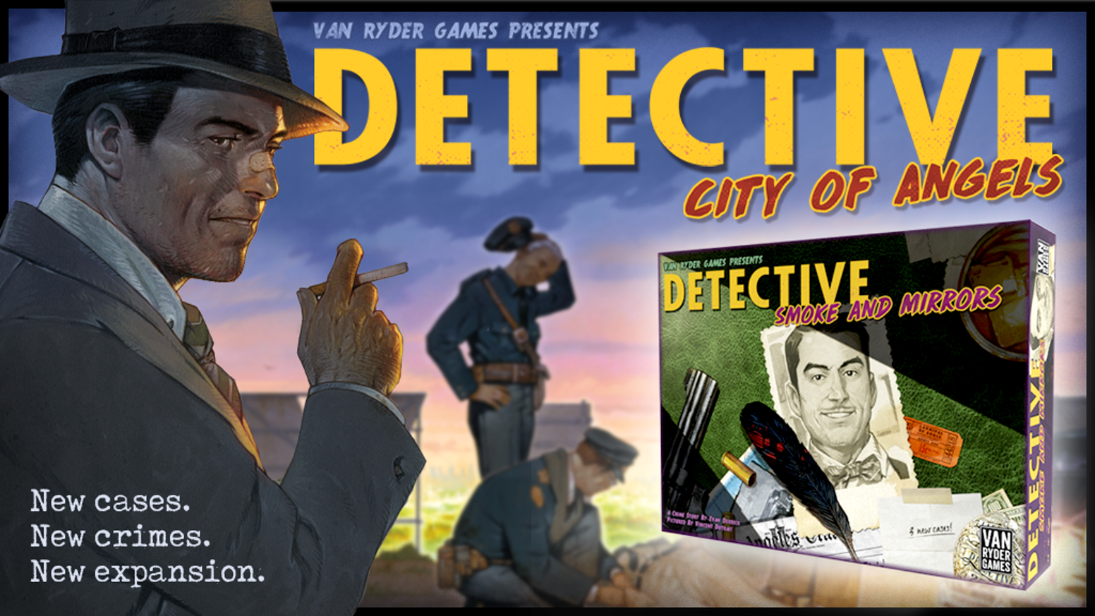 A new expansion for Detective: City of Angels. Plus, get Detective: City of Angels and Bullets Over Hollywood!