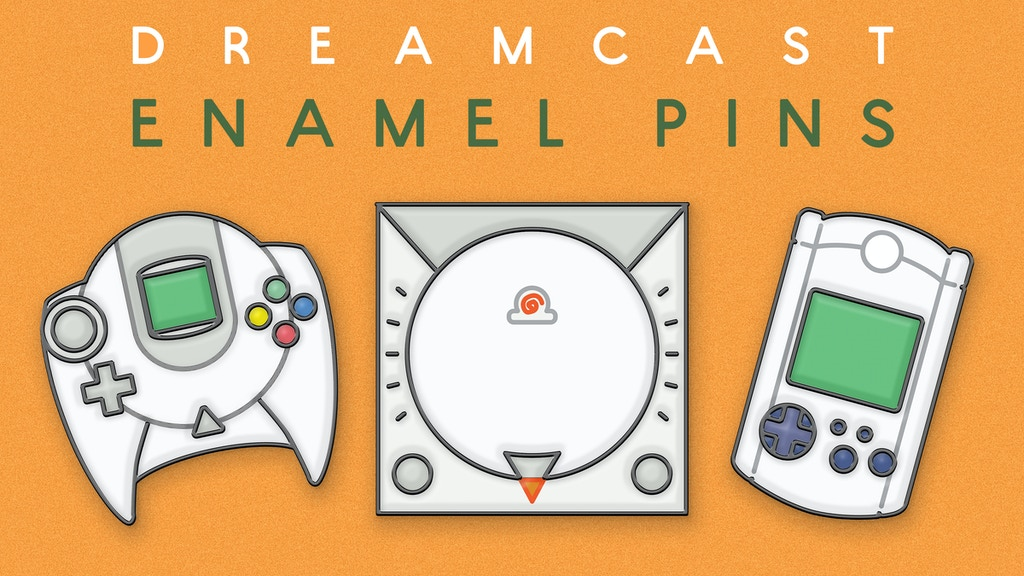 Project image for Dreamcast : Retro Games Enamel Pin Set