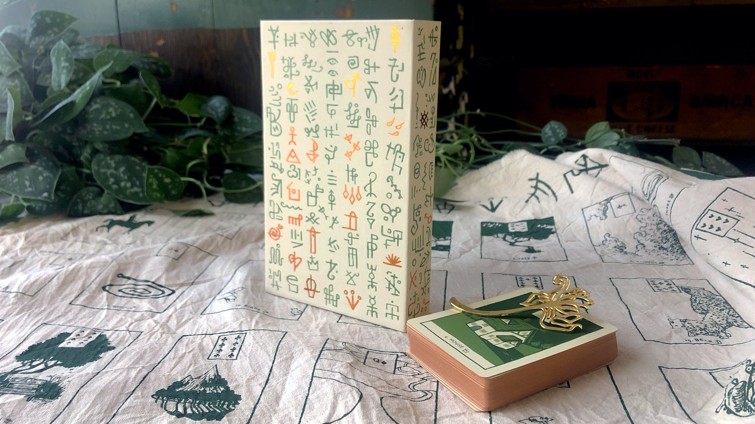 A deck of color-coded Lenormand Cards with an instructional booklet created by James R. Eads.