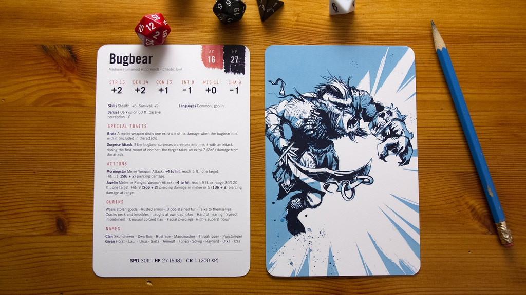 Monster Cards: DnD 5e Reference Cards project video thumbnail