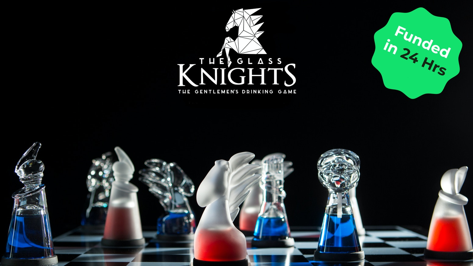 The iconic chess game reimagined into a set of uniquely crafted glass pieces that double as shot glasses for your next party.