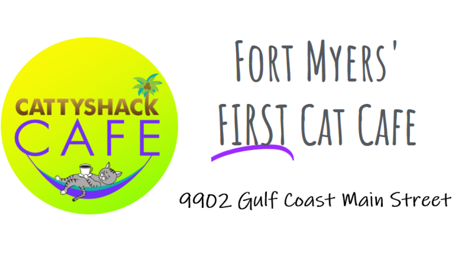 A cage free environment for adoptable rescue cats with coffee, pastries, beer, wine and community events like cat yoga and live music!