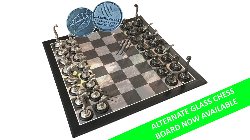 Jurassic Chess: Hand Sculpted Dinosaur Pewter Chess Set project video thumbnail