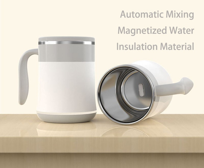 Self Stirring Coffee Mug With Wireless Charging& Night Light