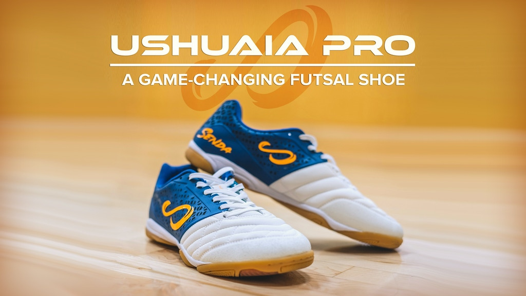 USHUAIA PRO: A Game-Changing Futsal Shoe by SENDA project video thumbnail