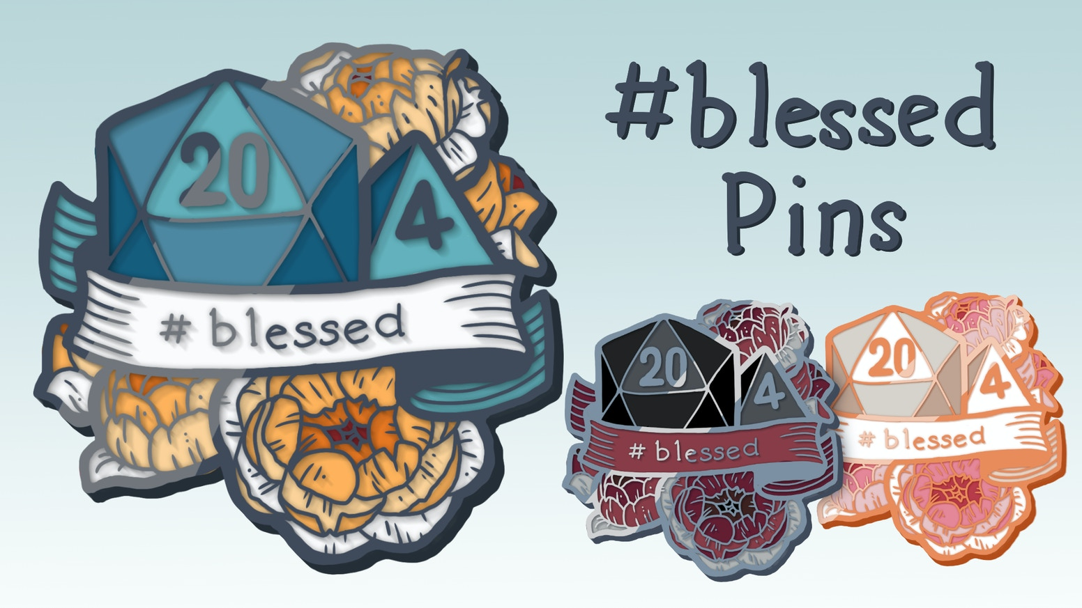 A hard enamel pin for the dice-loving DnD player who needs a cleric's blessing in their every day life.