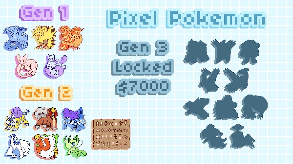 Legendary Pixel Pokemon Enamel Pins By Kingfaun Faq