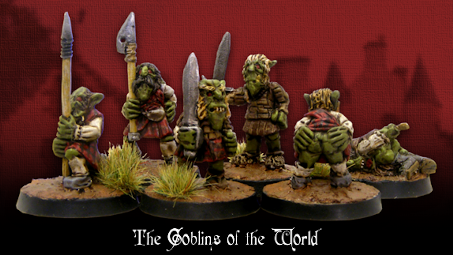 """Goblins of the World """"Braveheart goblins""""  Based of the dress styles of a particular historical fiction (Corny i know but i like them)"""