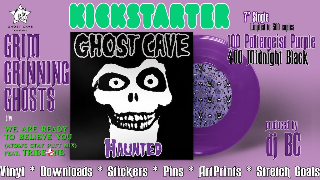 "Haunted Mansion Vinyl 7"" (limited to 500) by Ghost Cave project video thumbnail"