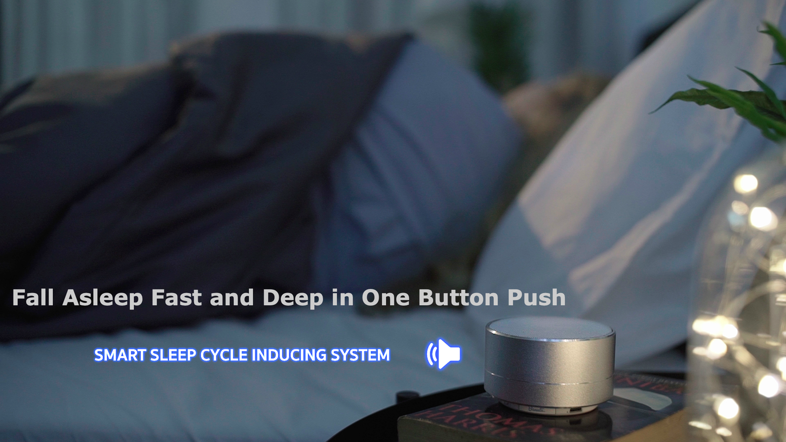 Sleep better with a smart sleep-cycle-inducing system integrated with isochronic sound technology.