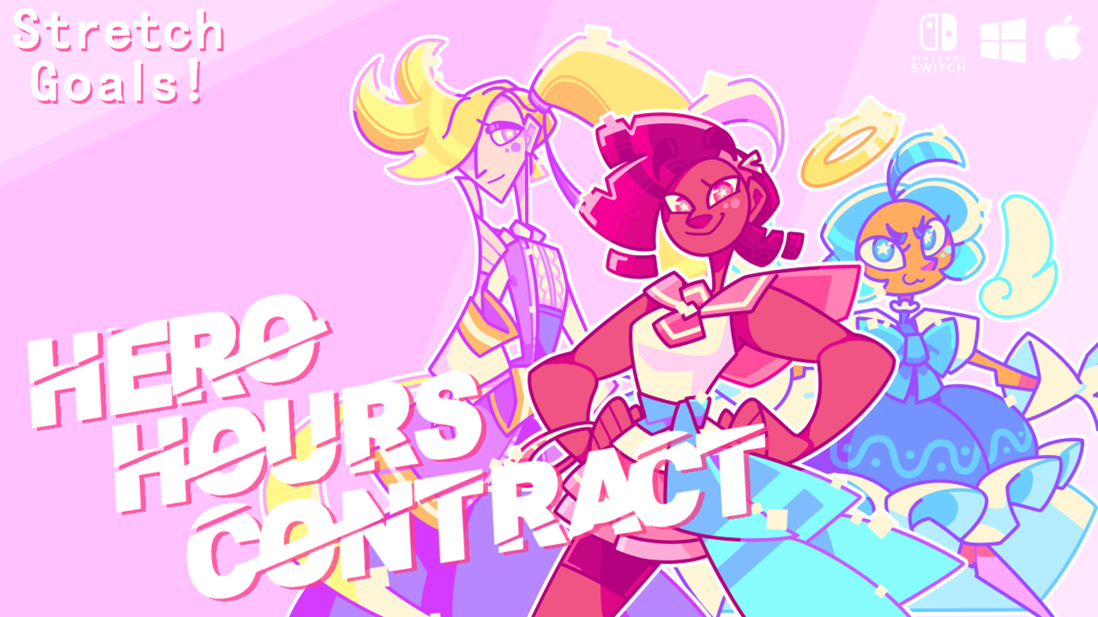 A tactical turn-based game for Nintendo Switch, PC & Mac about underpaid magical girls and their fight to become unionised!