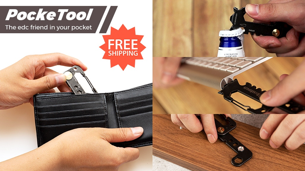 PockeTool | 10-in-1 Pocket-sized tool for Daily & Outdoor