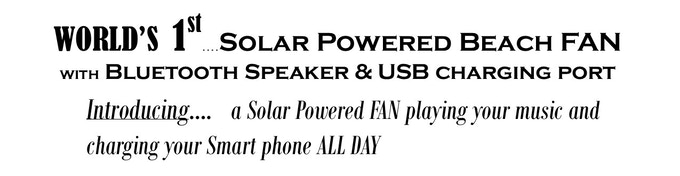 Solarfan Bluetooth Spkr Usb Charging Port By Dave Smith