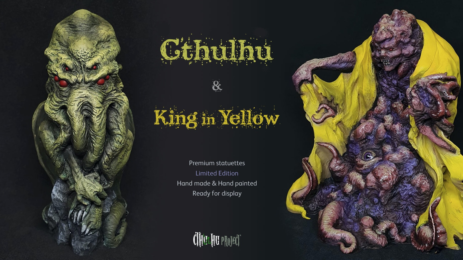 New collection of Cthulhu Mythos statuettes, limited edition. Hand-painted and ready for exhibition.