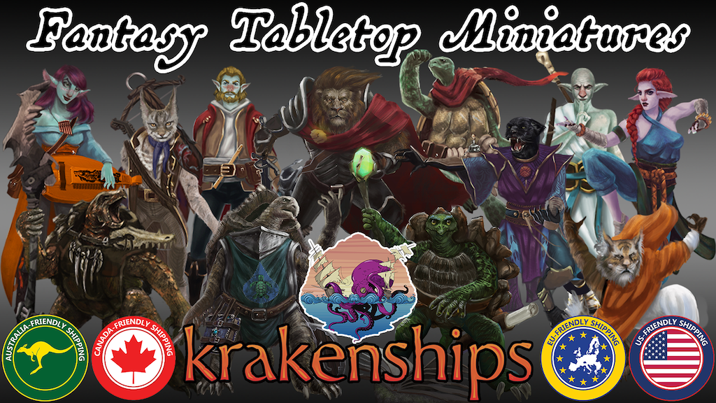 krakenships Miniatures - Fantasy Tabletop Figures project video thumbnail