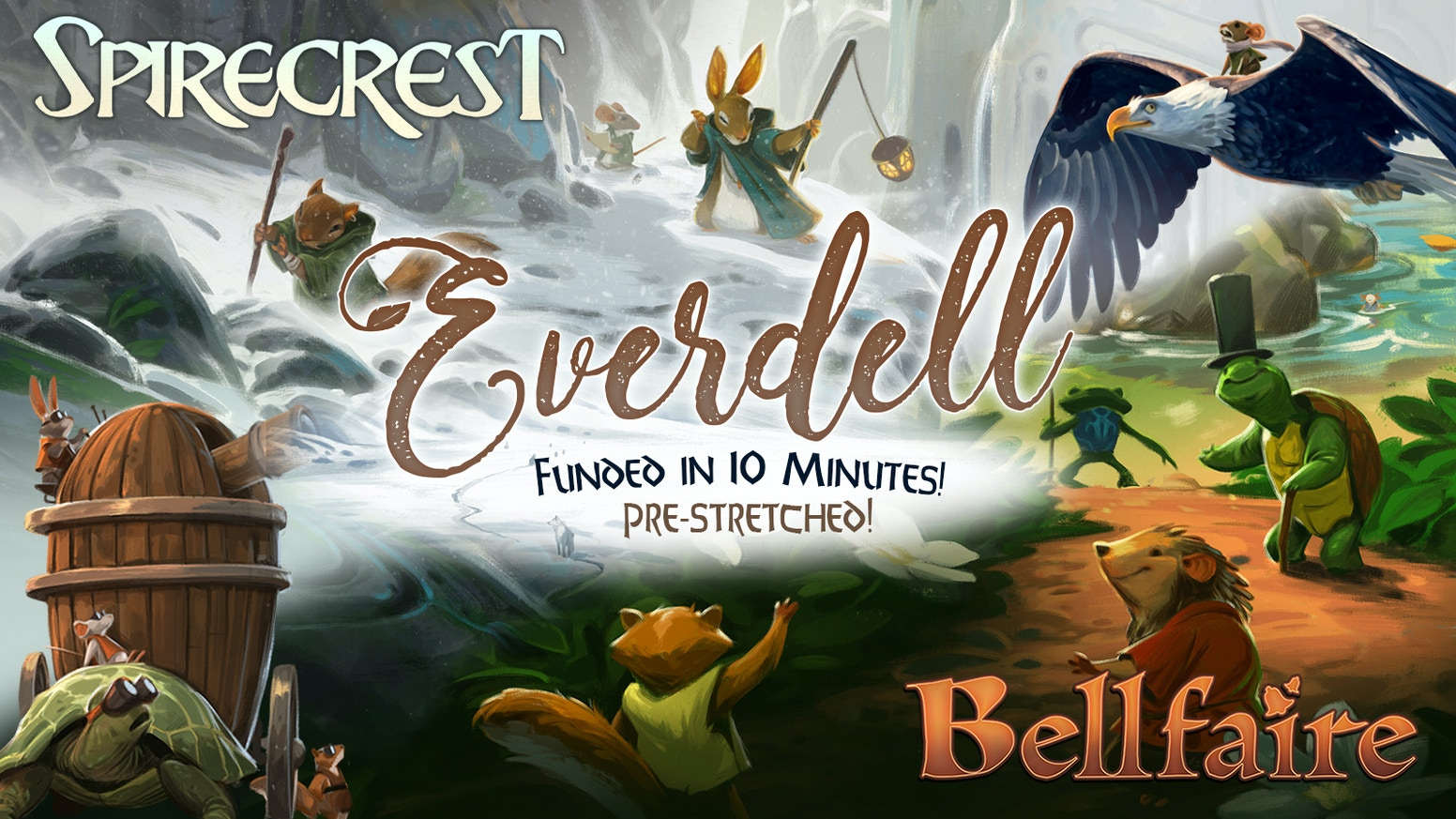 Introducing two exciting new expansions for Everdell! Expand Everdell up to 6 players, and travel to the far-off Spirecrest Mountains!