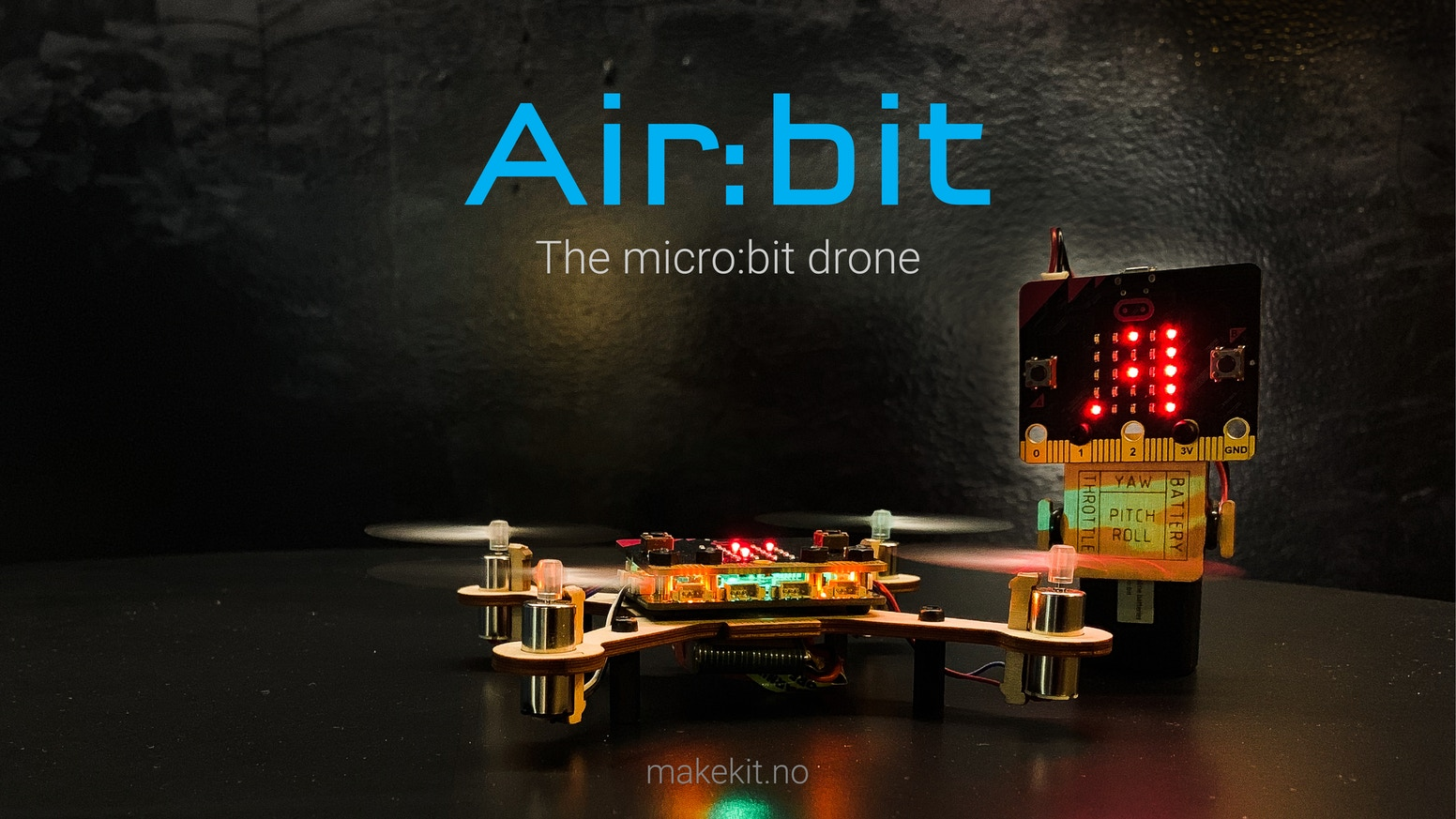 The micro:bit drone.  Build, code and fly!