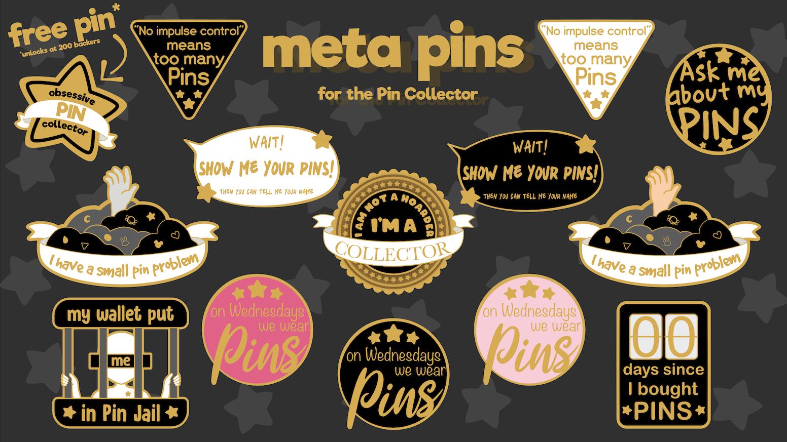 Meta Pins Enamel Pins