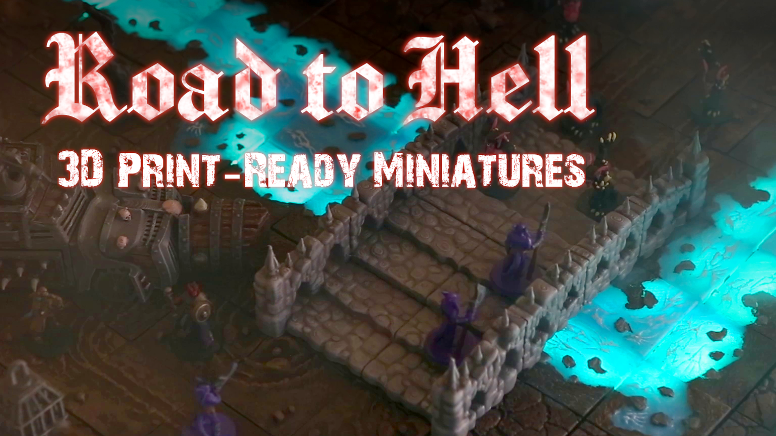 3D printable vehicles, figures, and terrain for your RPG/Tabletop campaign. Exceeds all your demon, devil, and hellscape needs!