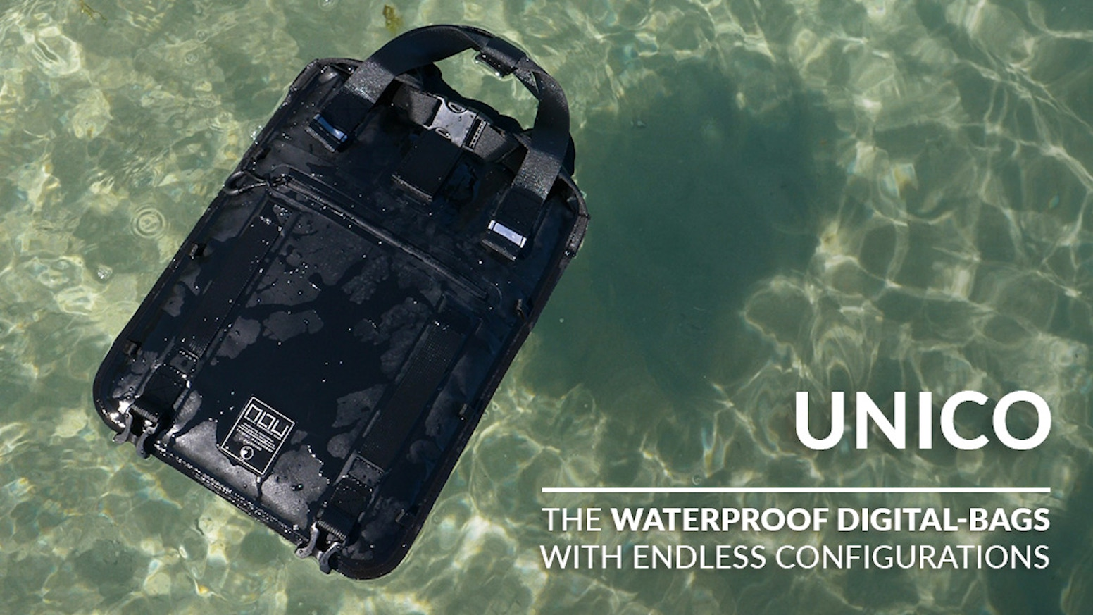 UNICO II Lets you carry your electronics without fear. Dry and safe no matter what!