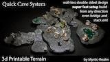 Mystic Realm's QCS: Quick Cave System 3d Tabletop Terrain thumbnail