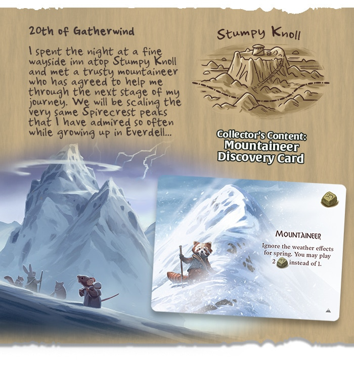 My Mountaineer Card >> Everdell Spirecrest Bellfaire By Starling Games Day 4