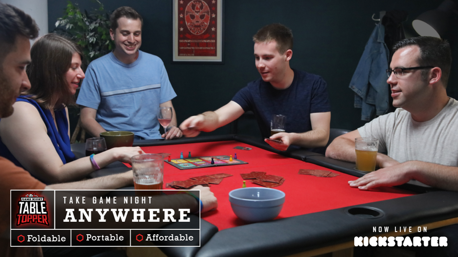An affordable solution to hosting game night in style!